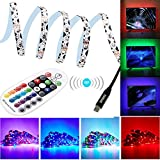SPARKE LED TV Light 3Meter/9.9feet RGB Color Changing Bendable SMD3528 Strip Light USB Powered TV Backlight Kit with RF Remote Controller for 32-70 inches TV/Monitor