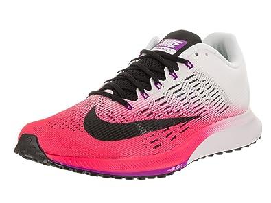Nike Women's Air Zoom Elite 9 Racer Pink/Black/White Running Shoe 9.5 Women