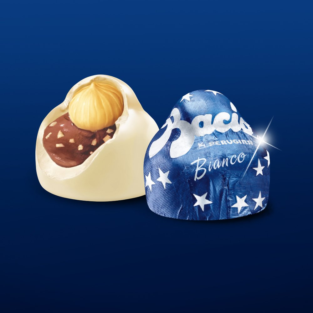 Perugina Baci Chocolate Bulk Box, White, 6.6 Pound