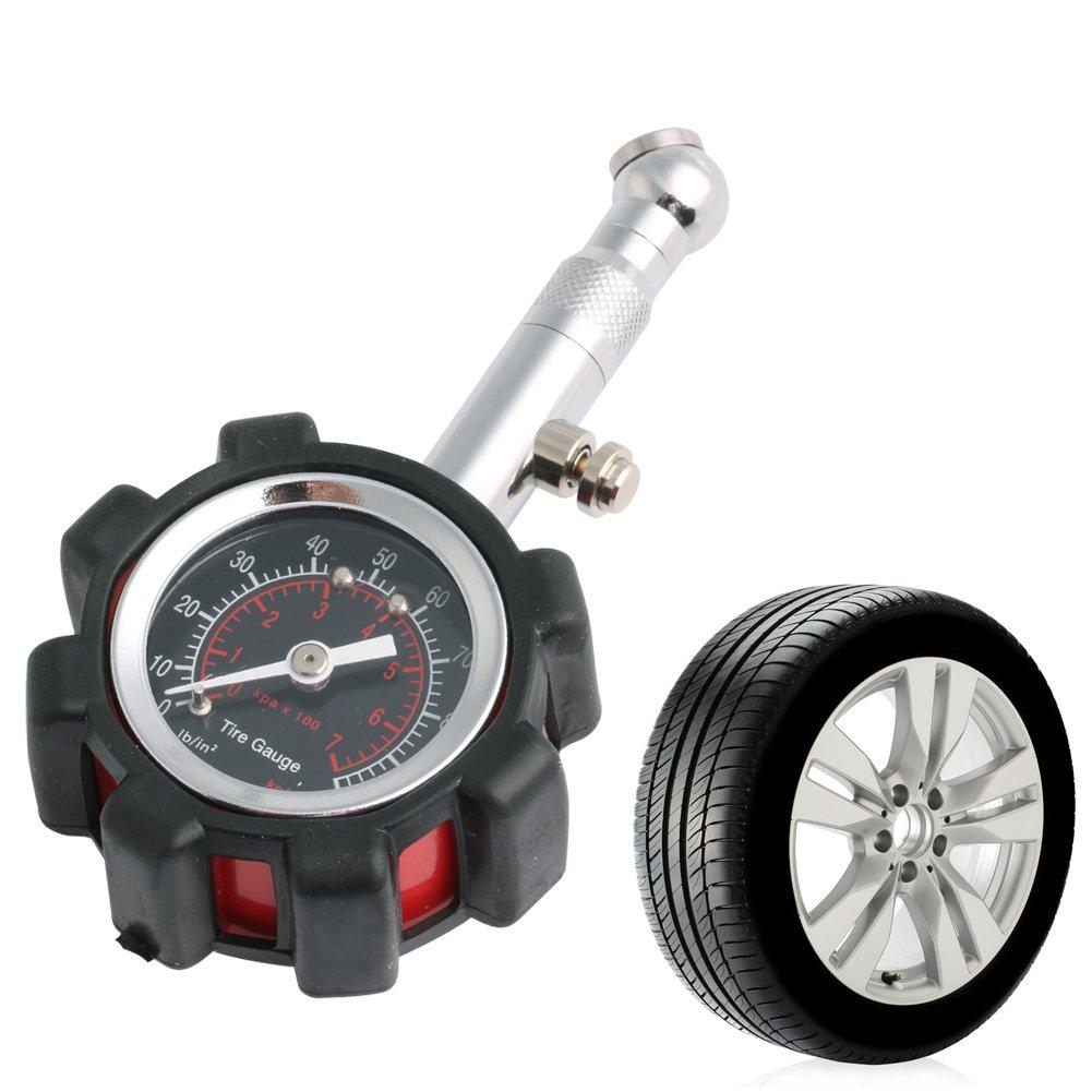William-Lee Reifendruckpr/üfer f/ür Motoren LKW Fahrrad Messger/ät 0-100 PSI Auto Reifen