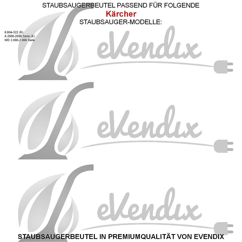 A 2000-2099 Serie 4 Staubsaugerbeutel K 10 passend für Kärcher 6.904-322