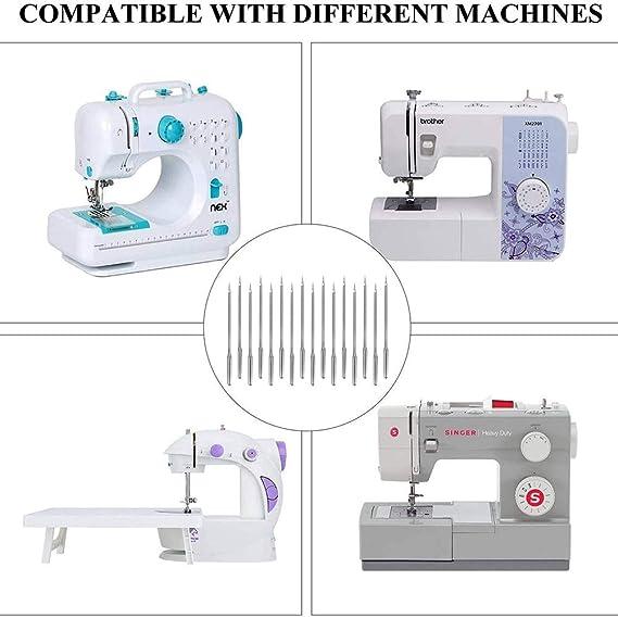 FEIDAjdzf Agujas para máquina de coser, 50 unidades, universales ...