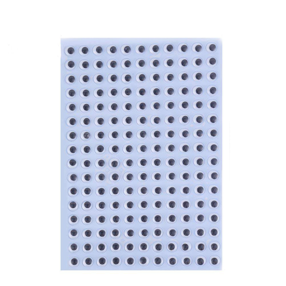 Decora 20mm Wiggle Eyes Sticker Self-Adhesive Eyes for DIY Crafts