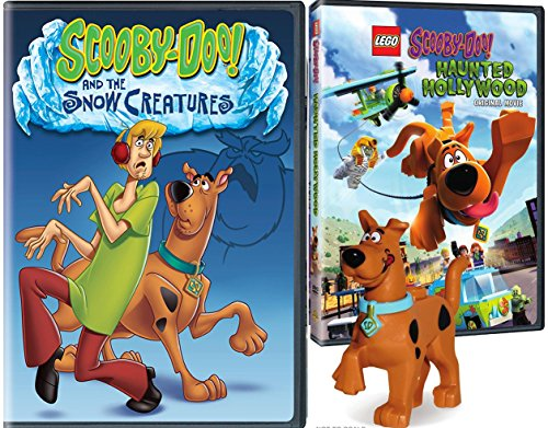 Lego Scooby: Haunted Hollywood DVD & Snow Creatures Scooby-Doo Lego Figure Bundle Mystery Inc. set Double Feature -