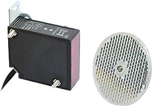 Supreform IP67 Waterproof Universal 10-30VDC Safety Retro-Reflective Photoelectric Beam Sensor for 12VDC and 24VDC Gate Opener, Garage Door Sensor Up to 40 Feet Sensing Range, Pre-Wired 6.6 Feet Cord