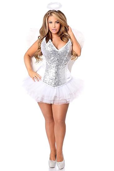 9e75460e0 Daisy Corsets Women s 4 Pc Heavenly Angel Corset Costume  Amazon.co ...