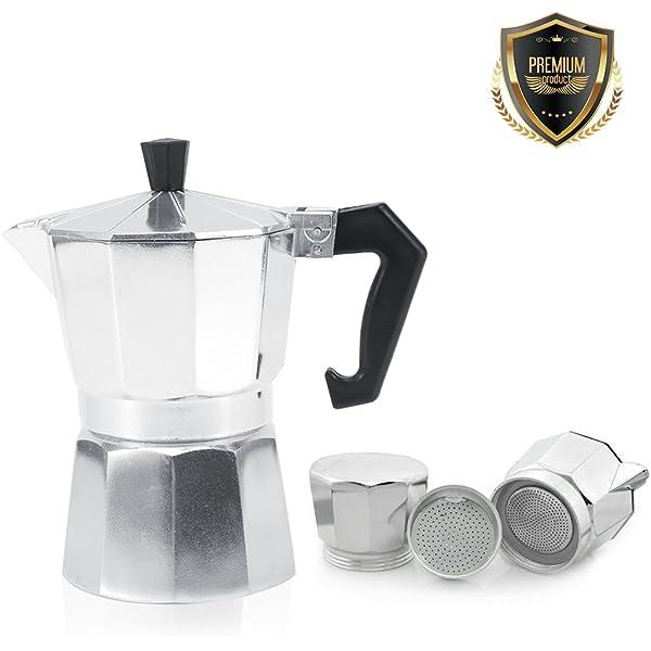 Cafetera italiana de aluminio, 3/6/9/12 tazas de café o moca, para ...