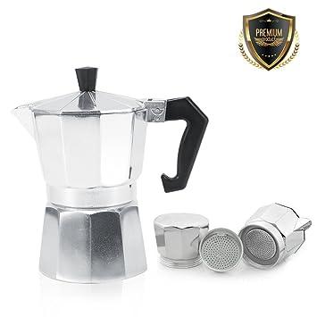 Espressokocher für Induktion//Gas//Ceran 9-12 Tassen //450-600 ml