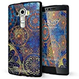 LG G4 case,Lizimandu soft TPU textured pattern Case for LG G4(Blue Flower)