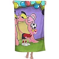 Pink Panther - Toallas de playa, diseño de pantera rosa para niños, niños y niñas, suaves, cómodas, ligeras y de secado…