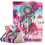 Universal 8 Inch Tablet Case,Gift_Source [Card Slots]Premium Slim PU Leather Holster Flip Magnetic Case Folio Stand Cover for Compatible with All Universal 8 inch Tablet [Butterfly Wind chimes]