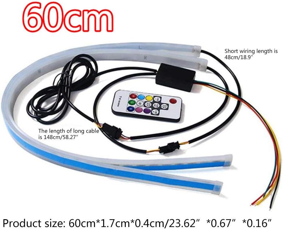 2 Stück Auto Sequentiell Fließende Rgb Tagfahrlicht Drl Fernbedienung Led Lichtleiste Utility Zu Verwenden Küche Haushalt