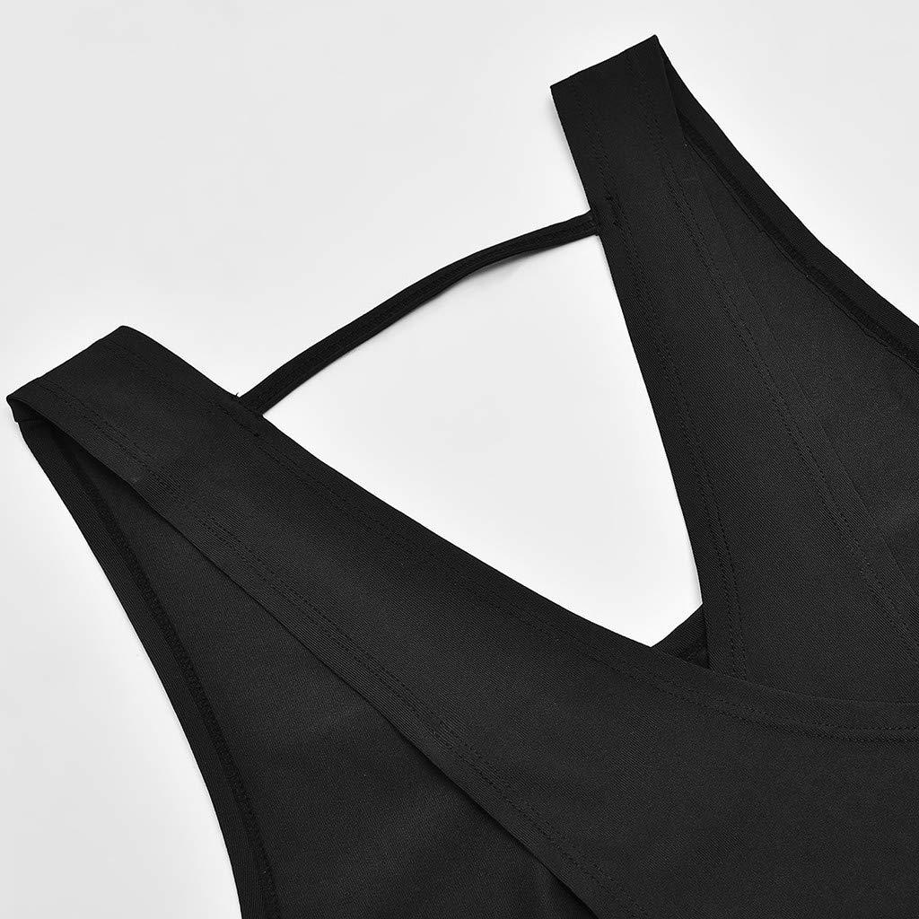 Sunnyadrain Maglia Sportiva Senza Maniche della Maglia di Allenamento della Palestra della Maglia Senza Cuciture di Forma Fisica delle Donne della Camicia di Sport per la Cima di Yoga delle Signore