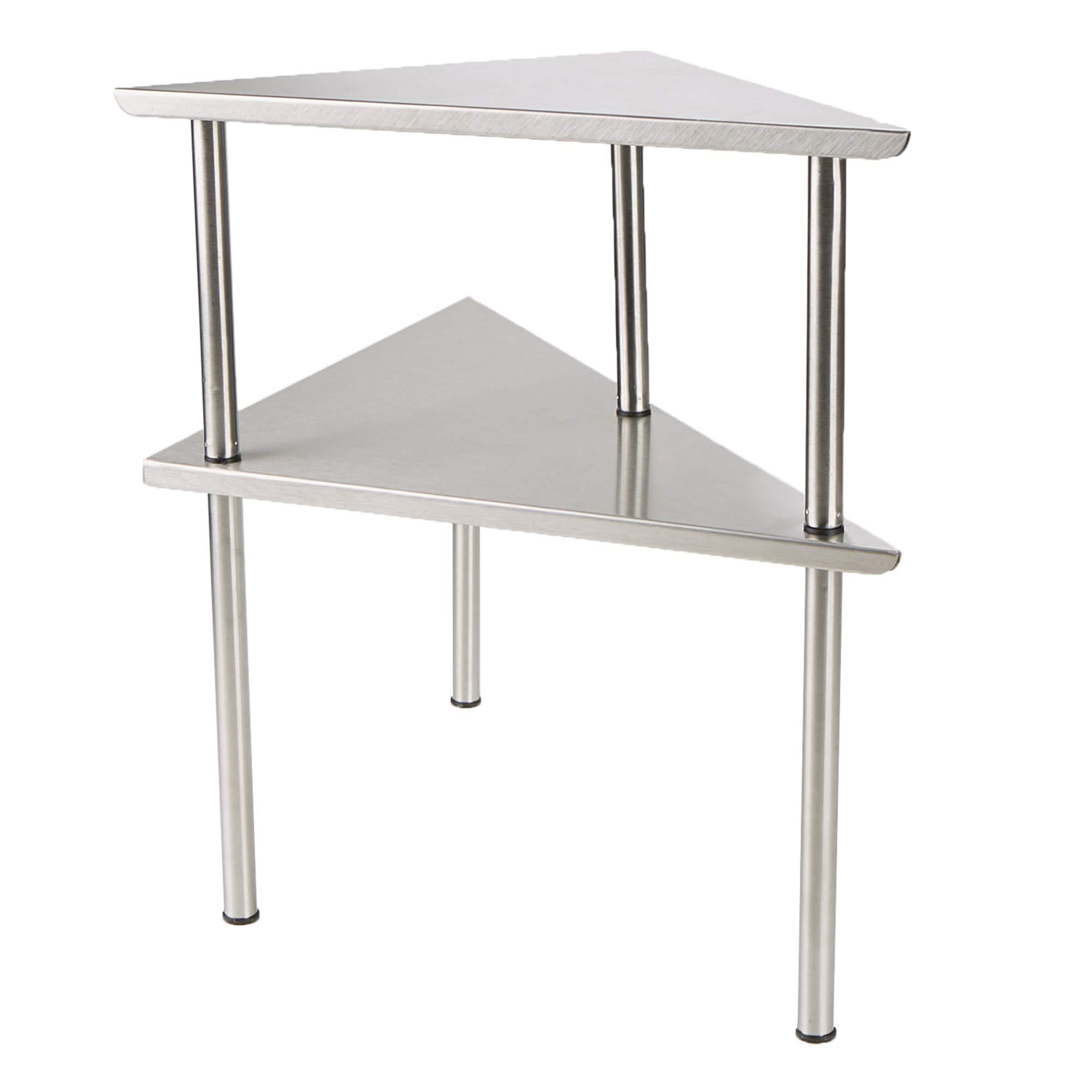 Mind Reader 2 Tier All Purpose Metal Kitchen Corner Rack, Silver