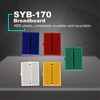 SYB-170 Mini Color Solderless Prototype Breadboard Protoboard PCB Circuito universale Test Board Strumenti fai da te Riutilizzabile Bread Board-Multi-Color