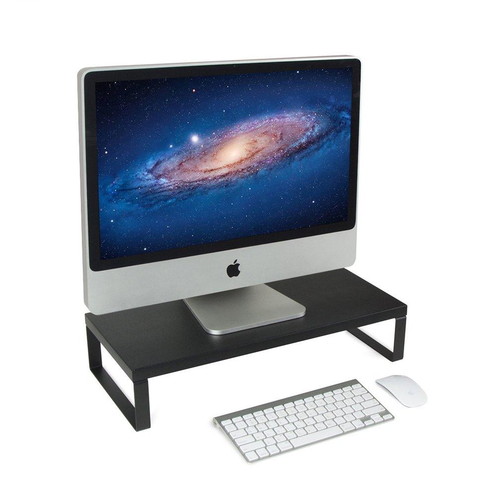 JackCubeDesign Monitor Desktop Computer Laptop Stand Riser Standing Desk Organizer Holder Shelf(Black, 21.4 x 9.8 x 4.5 inches)-MK280A