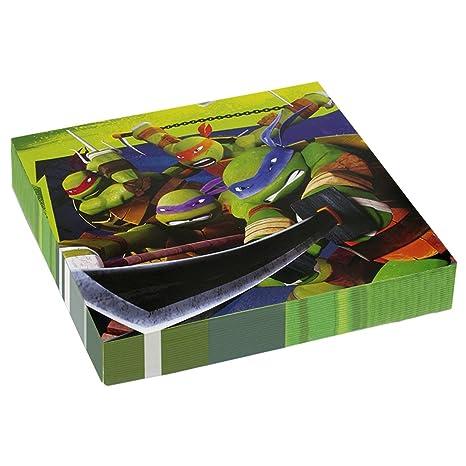 NET TOYS 20 servilletas de Papel 33x33cm Tortugas Ninjas ...