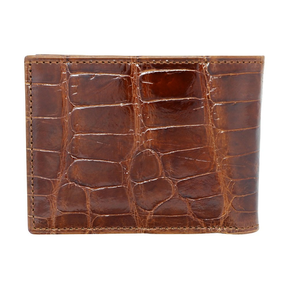 Cognac Glazed Genuine Alligator Skin Wallet for Men – American Factory Direct – Gift box – Gifts for Men – Made in USA by Real Leather Creations FBA734 TT by Real Leather Creations (Image #7)