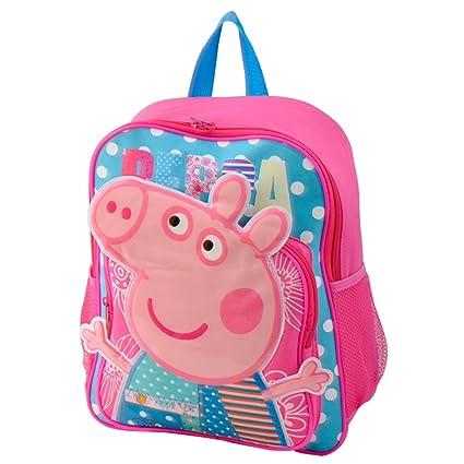 bebamour Kids Bolsa Peppa Pig Niños Mochila Infantil Bolso de escuela azul rosa
