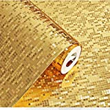 Modern Luxury Flicker Gold Mosaic Background Wallpaper Roll Hotel Ceiling KTV Decorative