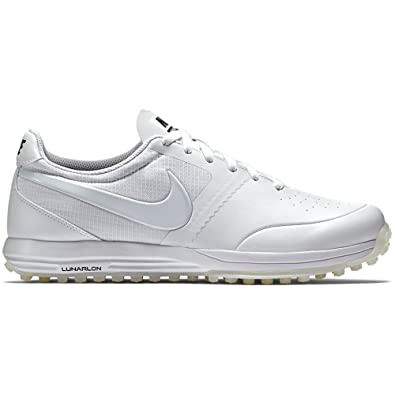 NIKE Lunar Mont Royal Mens Golf Shoes 652530 Sneakers Trainers (US 7.5,  White White