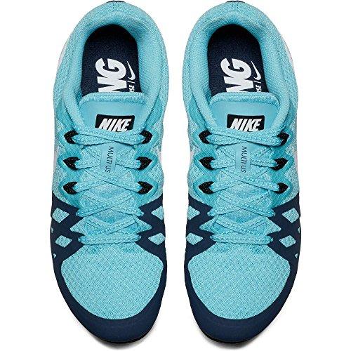 Nike Wmns Zoom Rival M 8 Womens 806559-410 Polarized Blue / White-thunder Blu-black