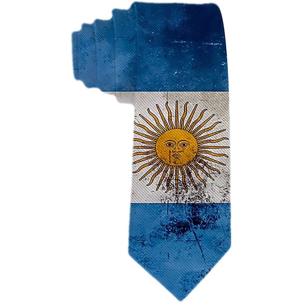 Corbata de seda de poliéster con bandera argentiNA vintage para ...