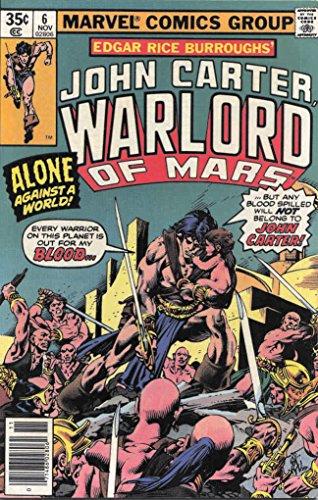 John Carter, Warlord of Mars #6 VF/NM ; Marvel comic