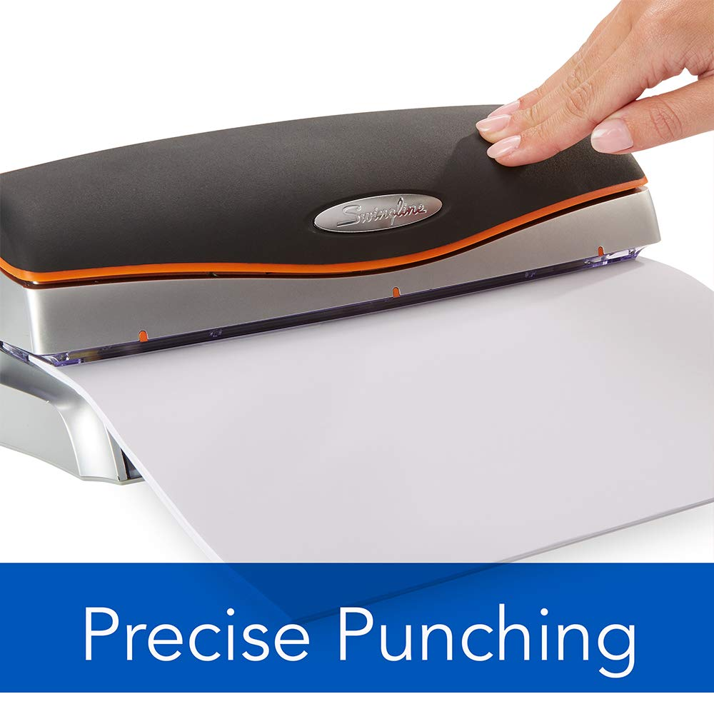 Swingline Electric 3 Hole Punch, Hole Puncher, Optima 20, 20 Sheet Punch Capacity, Silver (74520) by Swingline (Image #4)