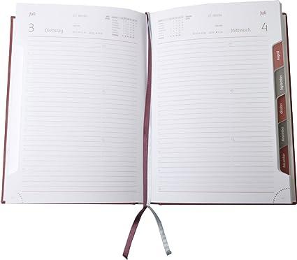 Lediberg - Agenda 2020 con registro (DIN A5), color rojo ...