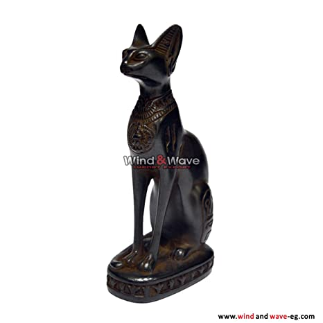 Amazon.com: Egipcio Bastet gato Diosa Estatua resina tamaño ...