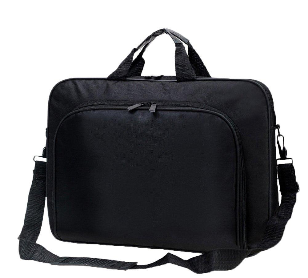 Messenger Bag For 15 Inch Laptop Computer Bag Macbook Shoulder Bag Business Backpack College Bookbag Travel Business Backpack Black Bag by FL Margaret (Image #1)