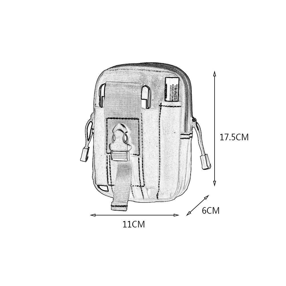 T/áctica De Molle EDC Bolsa Compacta De Usos M/últiples Utilidad Gadget Cintura De La Correa del Bolso con El Tel/éfono Celular Titular De Camuflaje Funda Monedero para Yendo De Excursi/ón