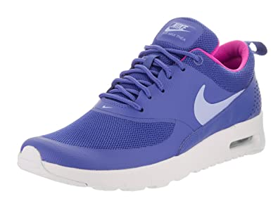 1dfb4eeceeb2b9 Nike Kids Air Max Thea (GS) Comet Blue Aluminum White Running Shoe