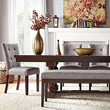 Tribecca Home Flatiron Baluster Extending Classy Dining Table Set