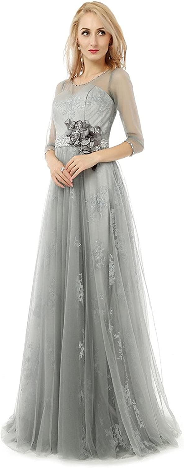 HONGFUYU Long Sleeve Formal Mother of The Bridal Dresses Evening Dresses