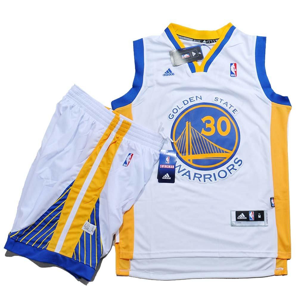 adidas – Gorra del Equipo de Baloncesto de la NBA de Golden State Warriors # 30 Stephen Curry Baloncesto Camisetas Kits