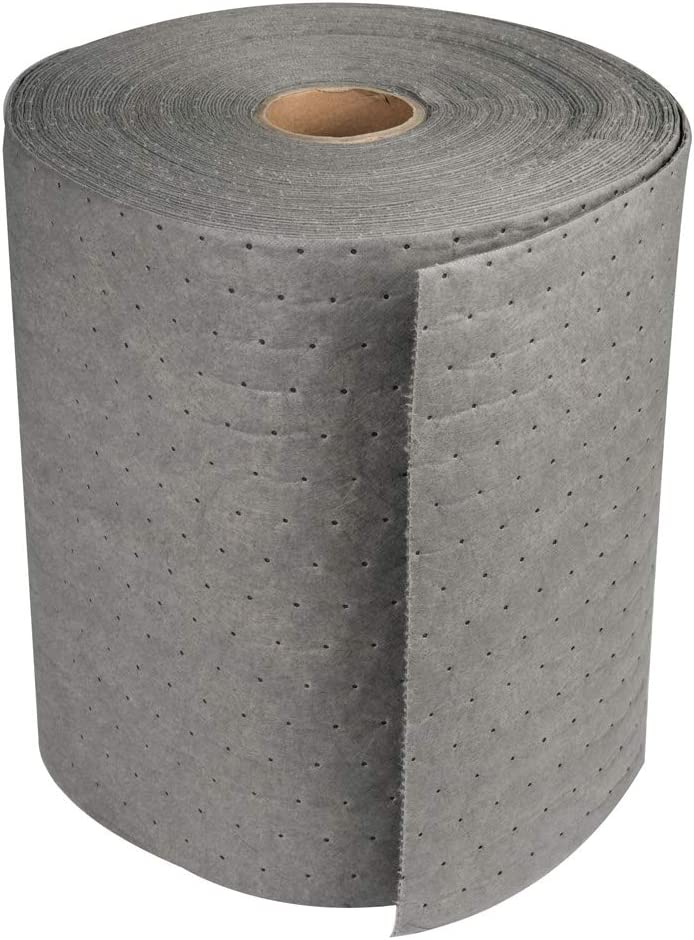 "Aain LT010A Heavy Weight polypropylene Meltblown Maintenance Universal Absorbent Bonded Roll, Gray Oil-Cleanup Premium Heavyweight Absorbent Mat Roll 150' L x 15"" W, 13 x 10 x 4 inches: Home Improvement"