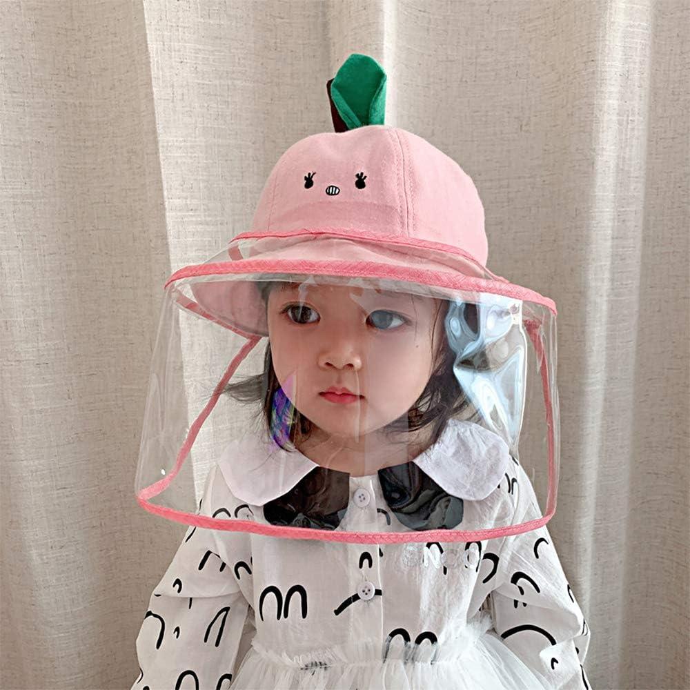 Winddicht Keleily Kinderschutzhut Fischerhut Gesichtschutz M/ütze Schutzhut Gesicht Baby mit Gesichtsschutz Schutzhut Sonne Outdoor-Hut f/ür Staubdicht Pink