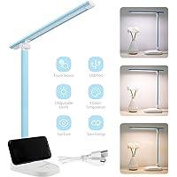 Unipampa Lámpara Escritorio LED, Lámparas de Mesa USB Recargable con 3 Modos de Colores y 3 Niveles de Brillos, Plegable…