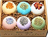 Bath Bombs Gift Set - Luxury Organic & Natural Ingredients - Safe for Kids – Relaxing Epsom Himalayan & Dead Sea Salts, Lush Essential Oils – Handmade in USA - Bath Fizzies-Vegan