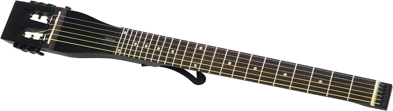 Anygig - Guitarra acústica para zurdos AGSSE 012 ~ 053 cuerdas de acero acústica, longitud completa, color negro