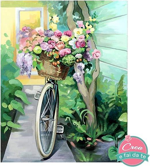 Rosa Start Kit, DIY, pintar cuadros con contornos, bicicleta ...