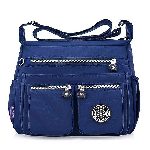 e79f51d37fd Bolsa Mujer Tipo Mochila,Bolsa Casual Grande,Bolso Bandolera Bandolera De  Nylon De Color SóLido A La Moda De Color SóLido (Azul oscuro): Amazon.es:  Zapatos ...