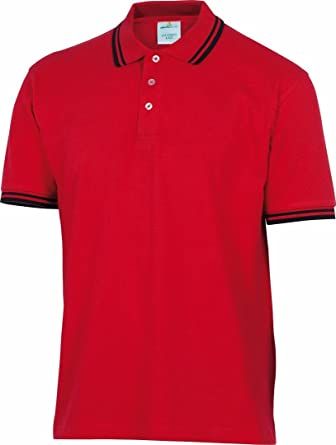 Delta Plus Panoply Agra Mens Red Cotton Polo Shirt Work T Shirt Tee