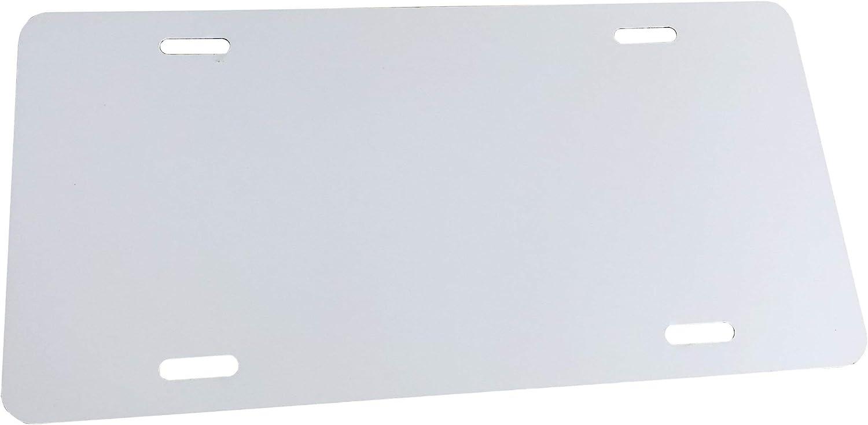 Anodized Aluminum License Plate Blank Heavy Gauge .040 1mm Partsapiens Corp - 12x6