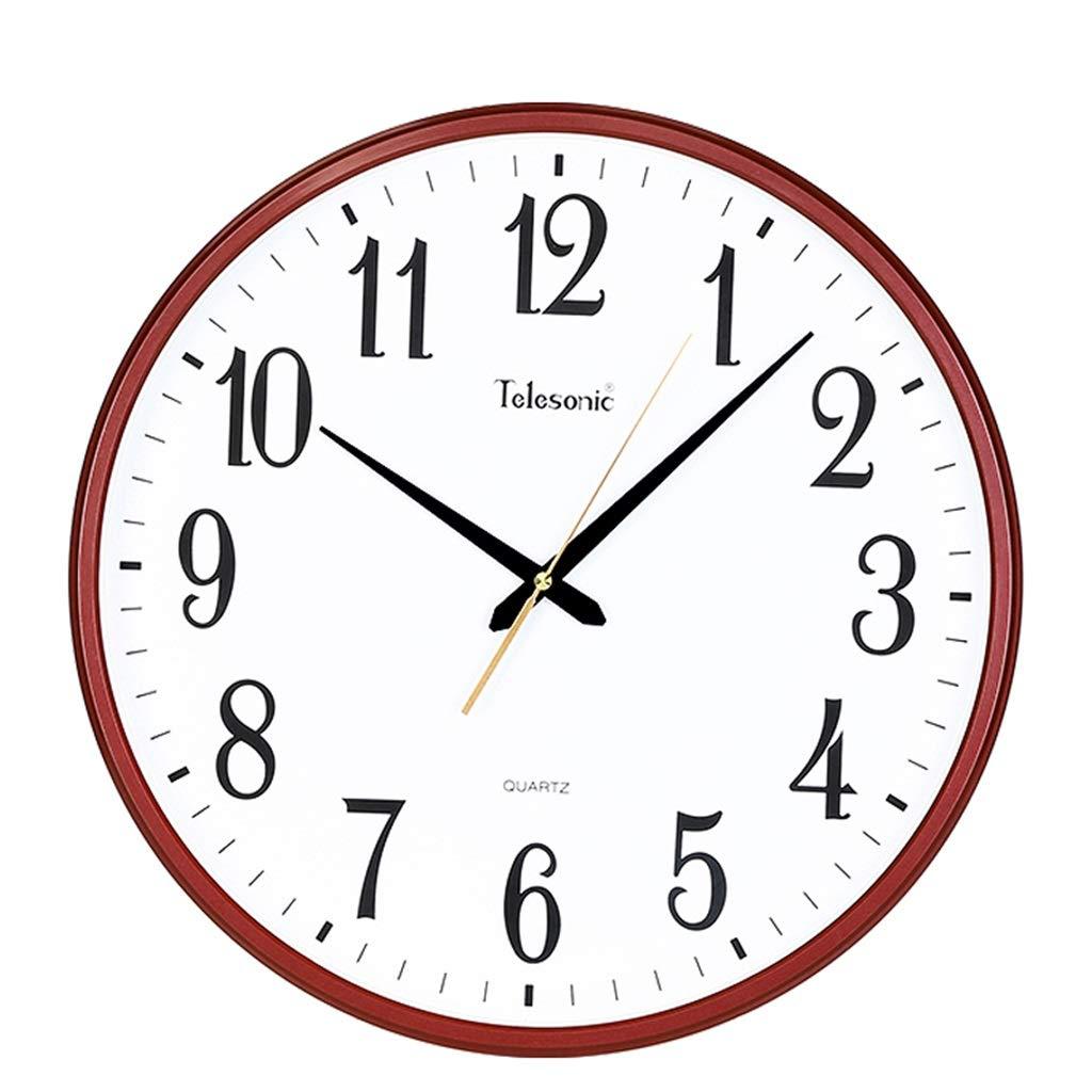 ホーム&時計 ウォールクロックリビングルームの寝室ラウンドウォールクロックシンプルクリエイティブpvcクリアダイヤルサイレントクォーツ時計 サイレント掛け時計 (色 : A)  A B07RR2QDPR