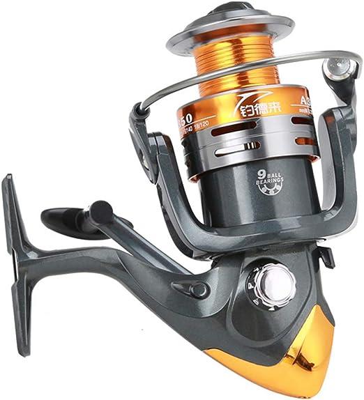 Carrete de Pesca 5.2:1 pez girando 9BB 1000-6000 Serie Carpa ...