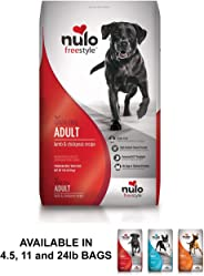 Nulo Adult Grain Free Dog Food: All Natural Dry Pet Food for Large and Small Breed Dogs, Lamb, Salmon, or Turkey Recipe - 4.5