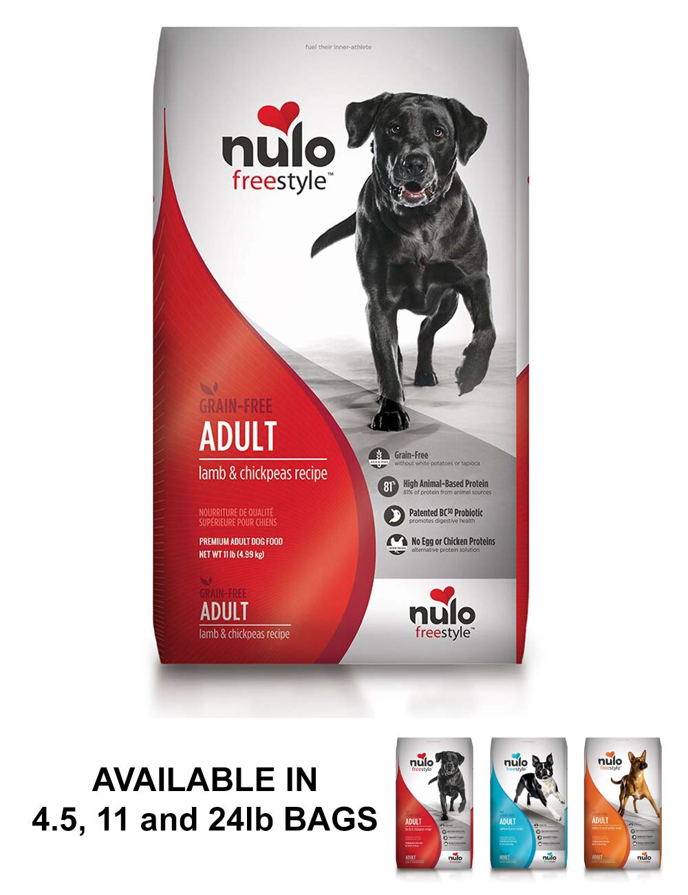 Nulo Adult Grain Free Dog Food: All Natural Dry Pet Food For Large And Small Breed Dogs (Lamb, 24Lb)